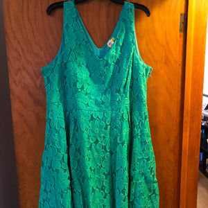 Turquoise Lace Dress Modcloth Yellowstar 3x